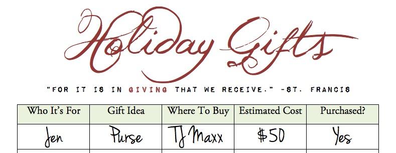 Organize Holiday Shopping {Free Printable} | Blair Blogs