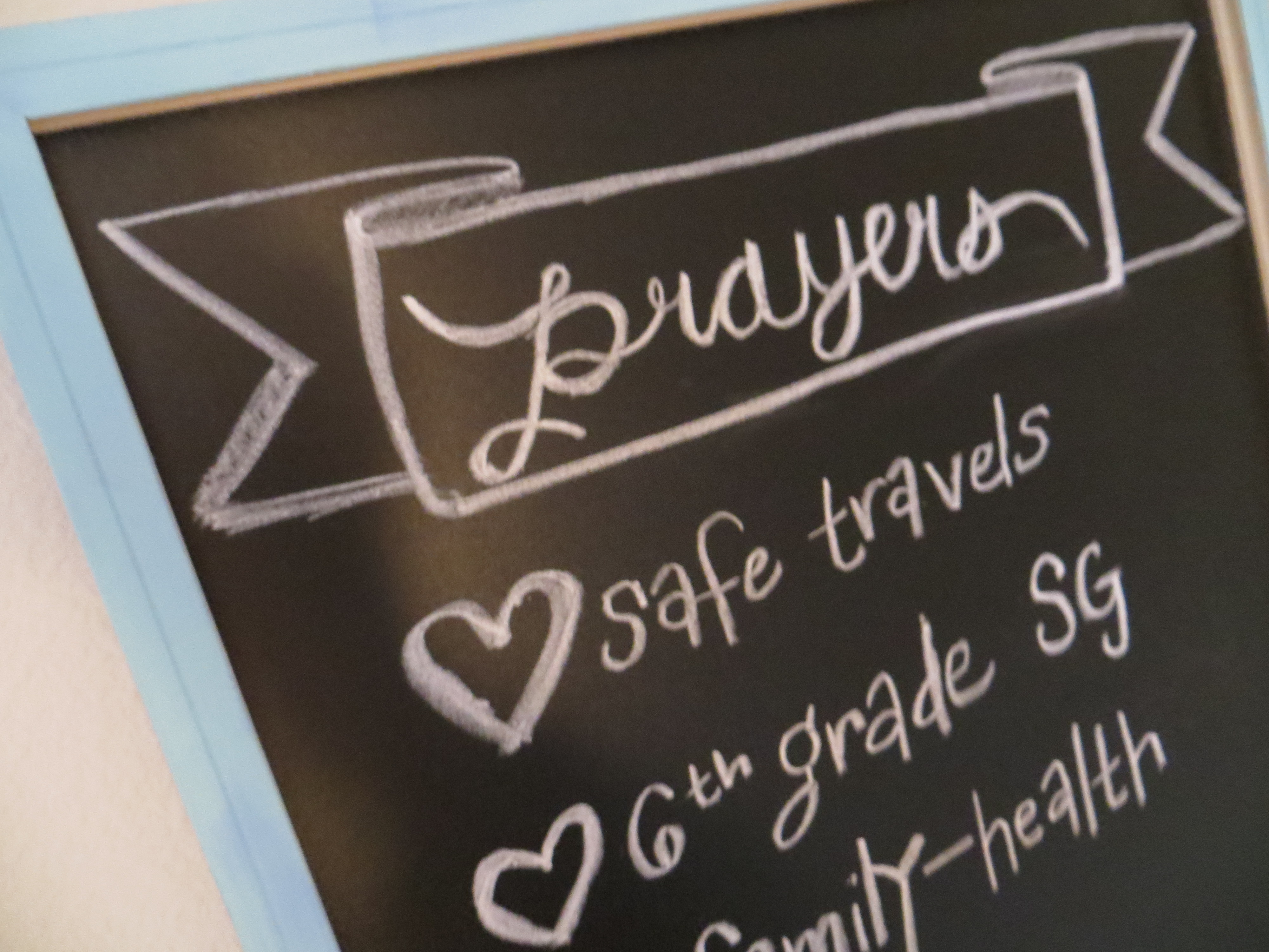 DIY Prayer Chalkboard | Blair Blogs