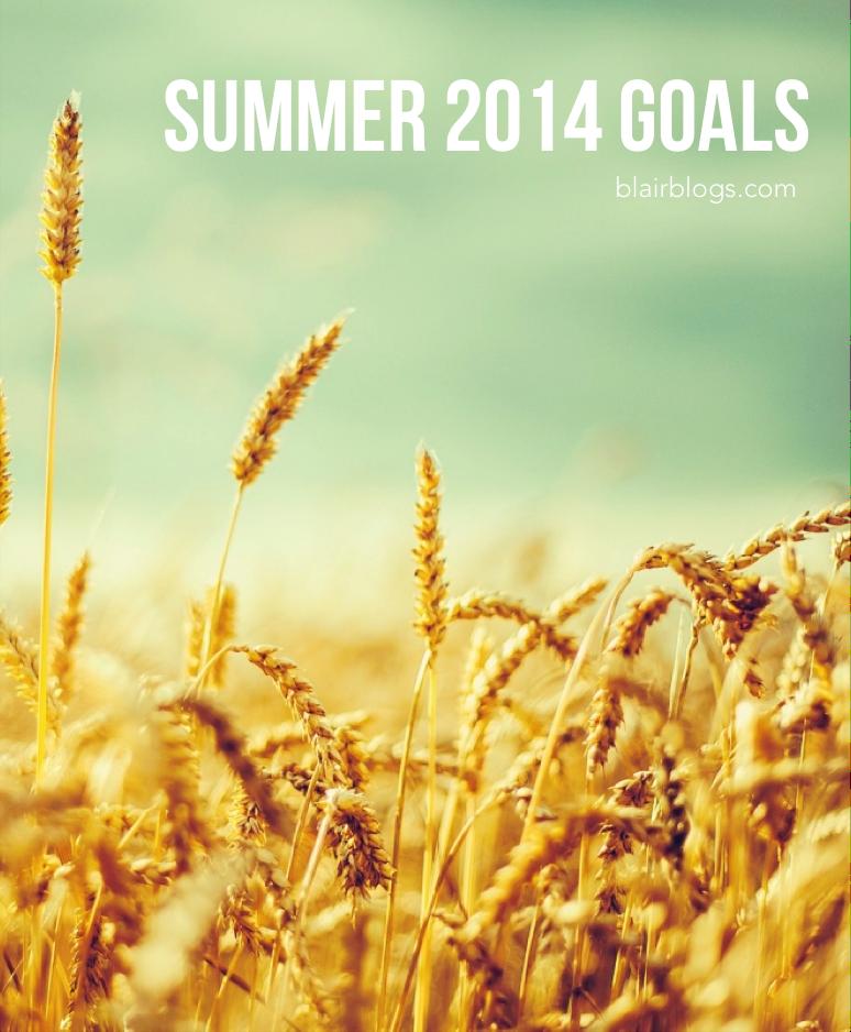 Summer Goals for 2014 | Blair Blogs