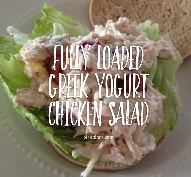 Fully Loaded Greek Yogurt Chicken Salad | Blairblogs.com