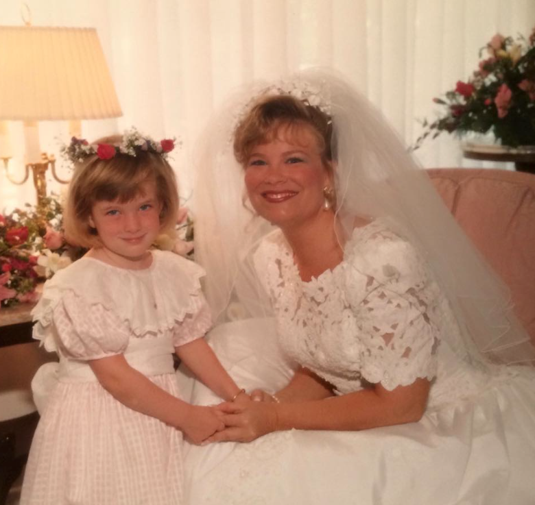 I was her flowWedding Day Timeline | Blairblogs.comer girl (pictured below), so we had to recreate that sweet moment on her wedding day on my own!