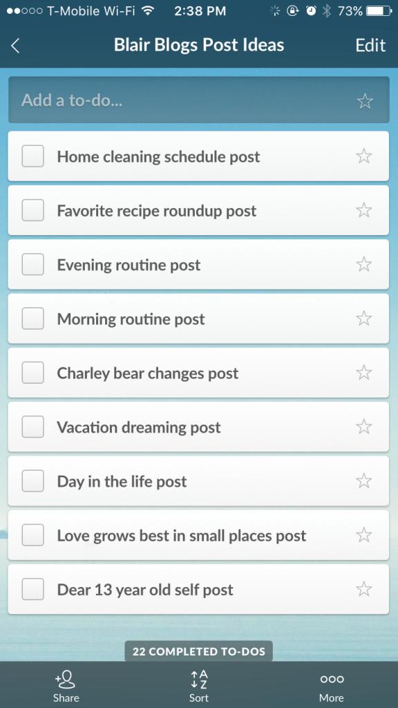 My Process of Writing a Blog Post | Blairblogs.com