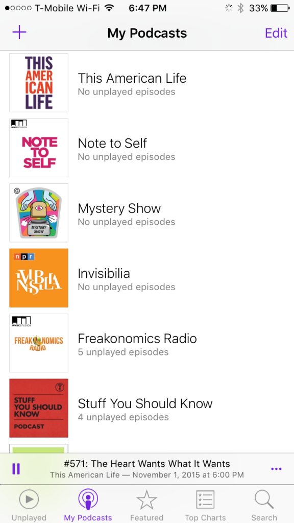 Current Favorite Podcasts | BlairBlogs.com