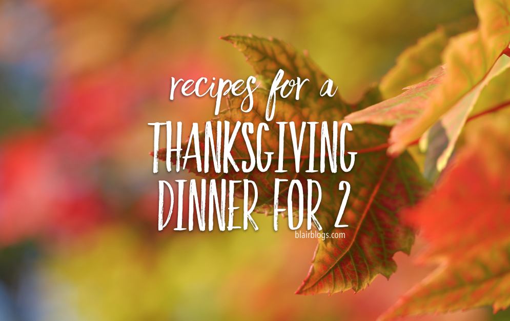 Recipes For a Thanksgiving Dinner for 2 | Blairblogs.com