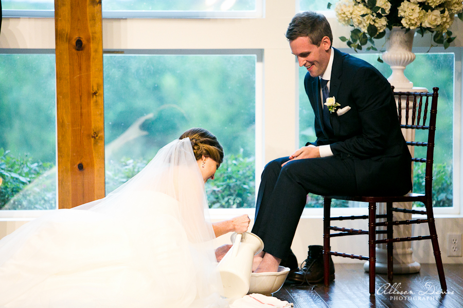 How We Incorporated Foot Washing Into Our Wedding Ceremony | Blairblogs.com