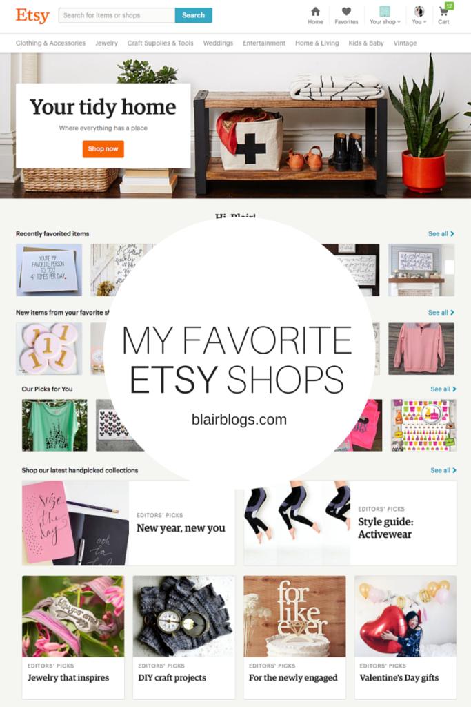 My Favorite Etsy Shops   Blairblogs.com