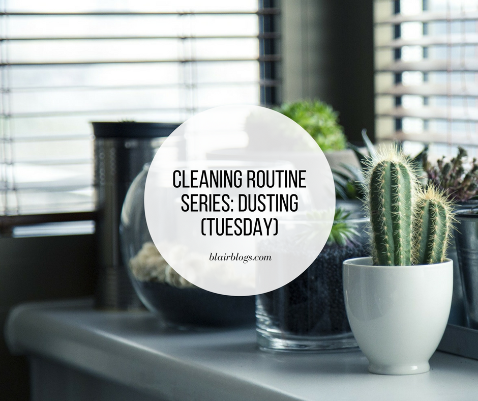 Cleaning Routine Series: Dusting (Tuesday) | BlairBlogs.com