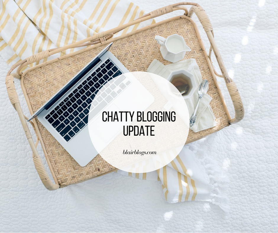 Chatty Blogging Update | BlairBlogs.com